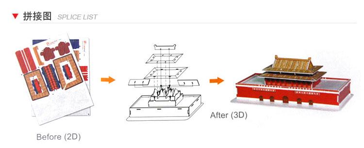乐立方立方拼图世界著名建筑模型迷你系列12款