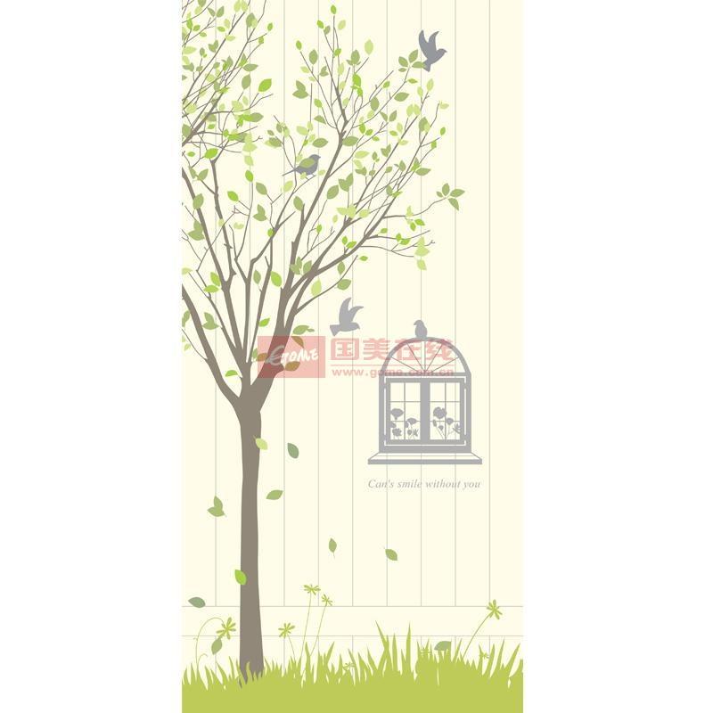宜美贴 独家设计室内门装饰贴纸 韩国田园风格门贴 窗外风景mt06