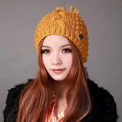 deniso秋冬女款手工编织帽子针织帽ds-1193