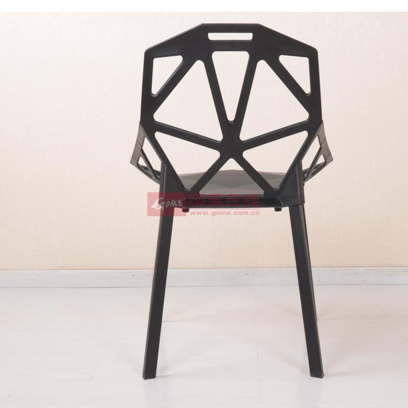 【黑白调】欧式创意阳台休闲椅子/环保时尚现代简约办公椅