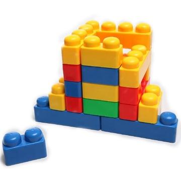 长方形积木玩具 宝宝创意拼搭塑料积木 拼插益智 幼儿