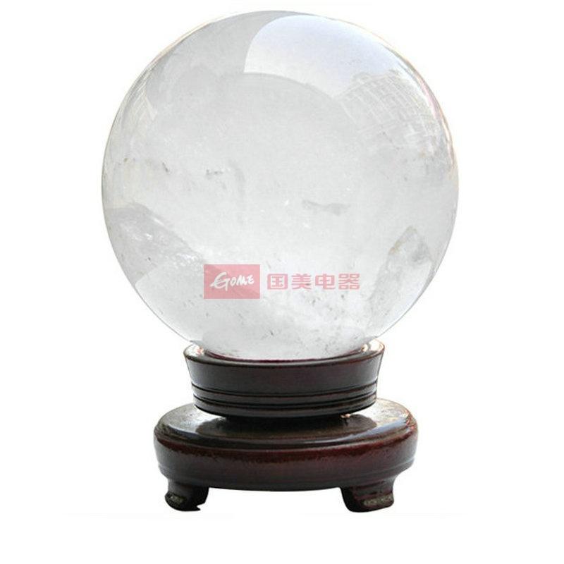 诗蔓 纯天然时尚白水晶球家居摆件 增强记忆力 改善*