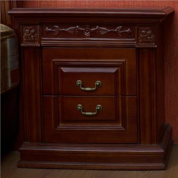 御品工匠中式床头柜 雕刻床头柜