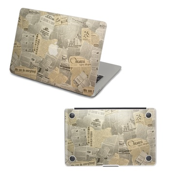 skinat 苹果笔记本 正底面保护彩膜 老报纸 适用macbook系列(air 11)