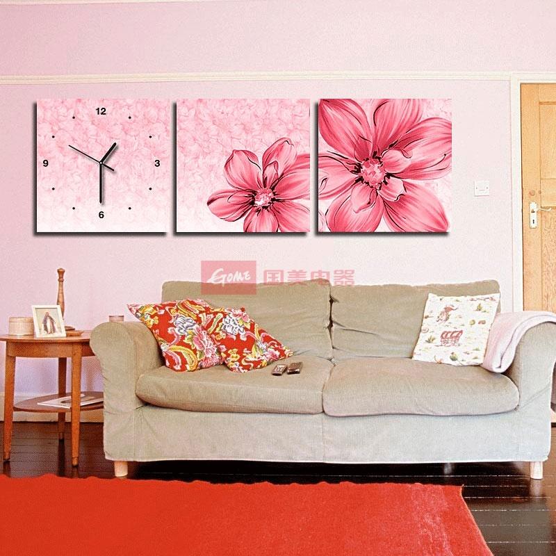 静音挂钟客厅装饰画(50*50一套)润格图片,国美的润格图片大全拥有海量