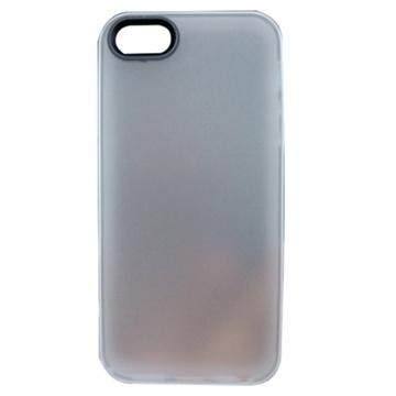 贝币(bb)苹果5手机套 手机壳 多彩边框半透明外壳 双色pc(白色 0002)