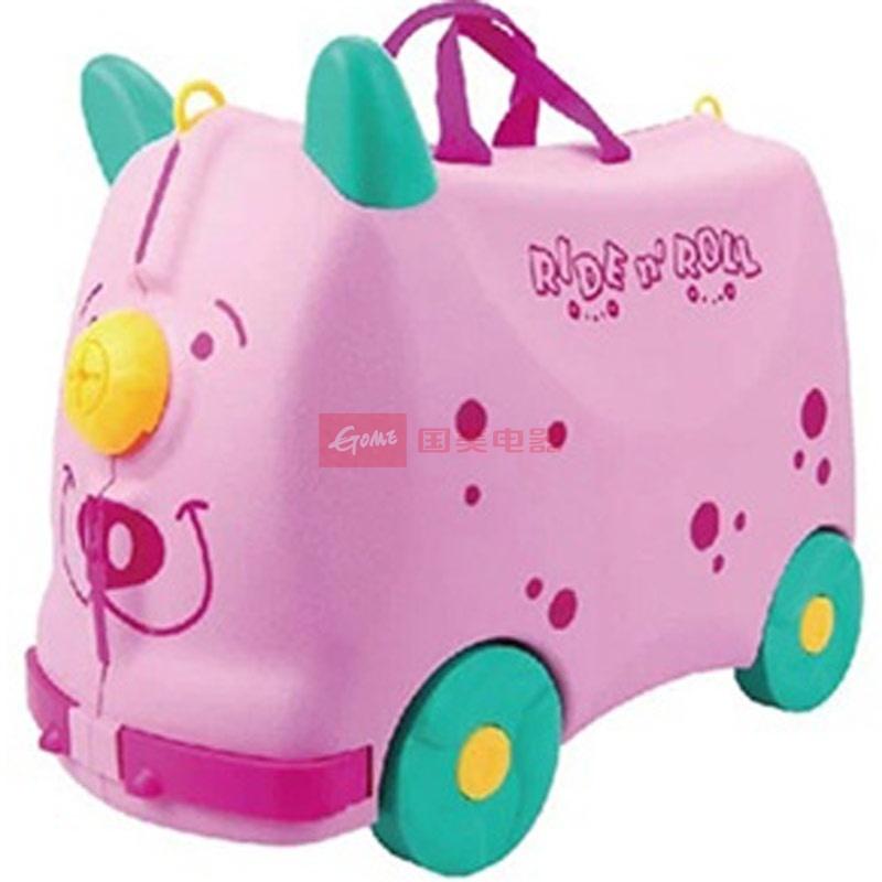 2012新款英国ridenroll高耐磨pp儿童可爱旅行箱五色可选(粉色懒懒猪)
