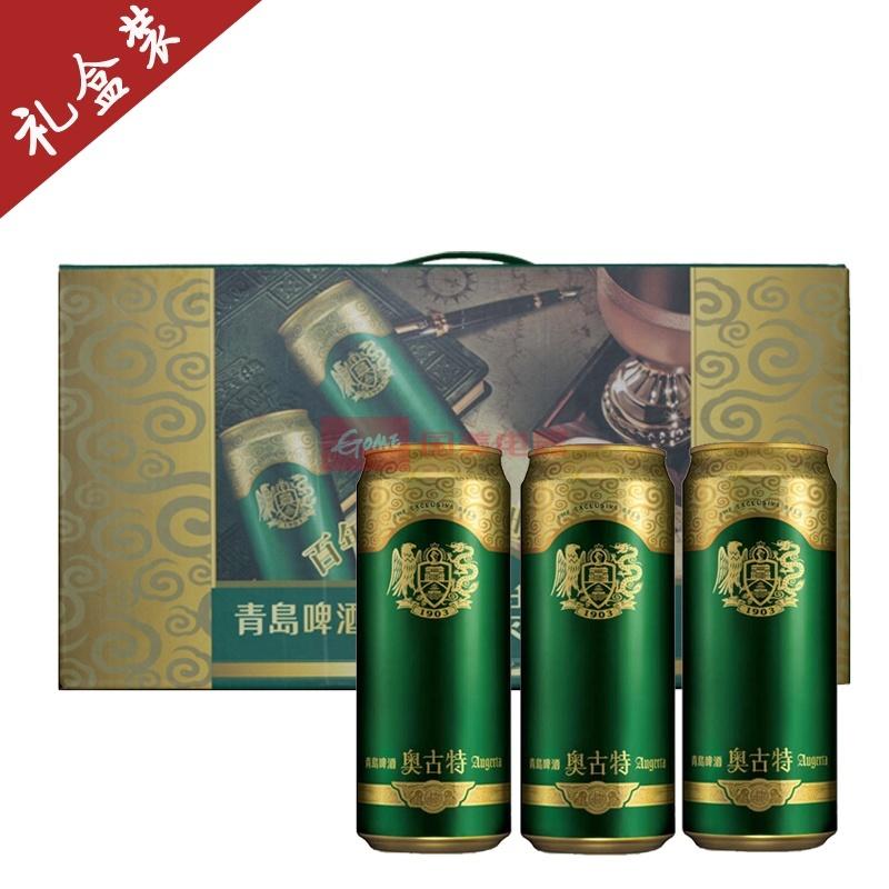 青岛啤酒奥古特12度500ml*10罐(礼盒装)