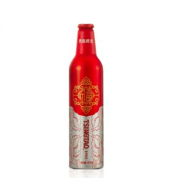 青岛啤酒11度鸿运当头铝瓶箱啤473ml*12