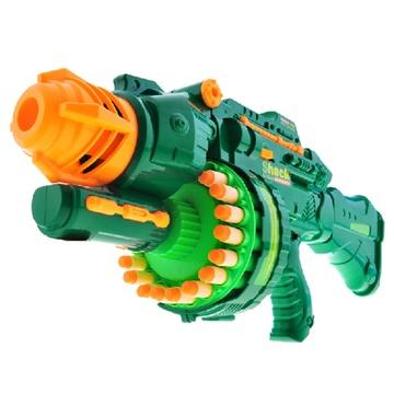 安全软弹枪可发射塑料子弹20连发儿童电动玩具枪7002
