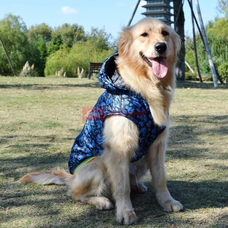 中大型犬狗狗衣服 金毛滑雪衫 边牧/罗威纳等大狗狗衣服(绿色 6号)图片