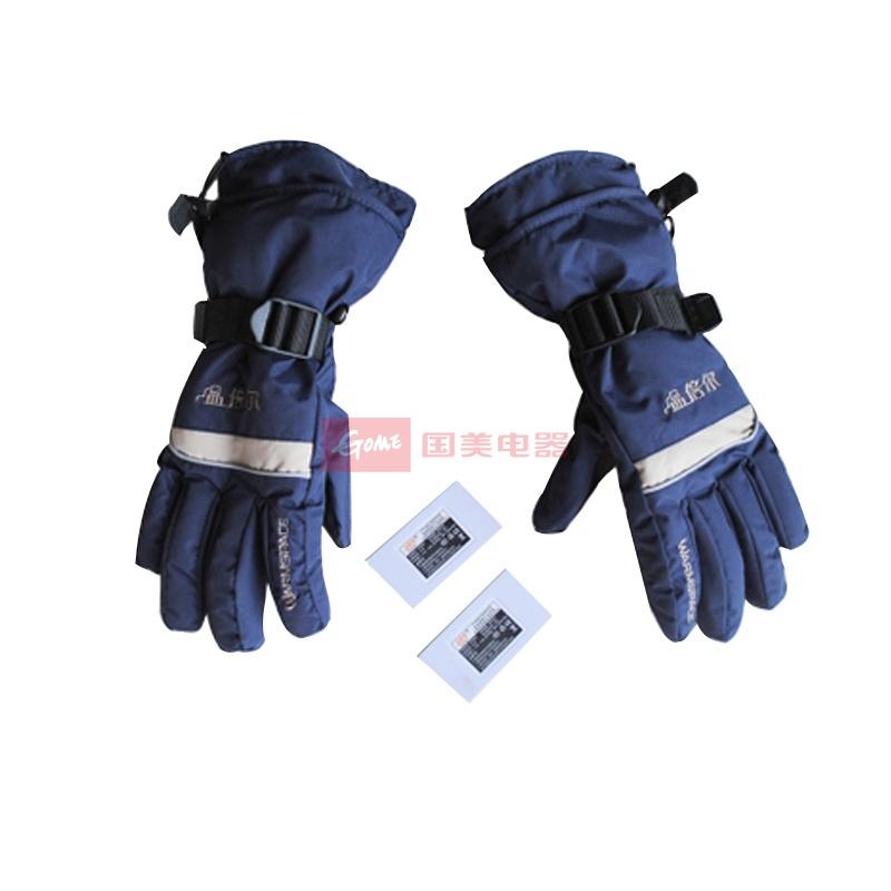 温倍尔户外电加热手套 透气防水 30秒极速升温 3档调温手指 手背(黑色