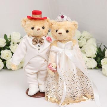 压床娃娃 婚纱熊_婚纱熊 情侣熊 压床娃娃 结婚礼品熊 情侣熊