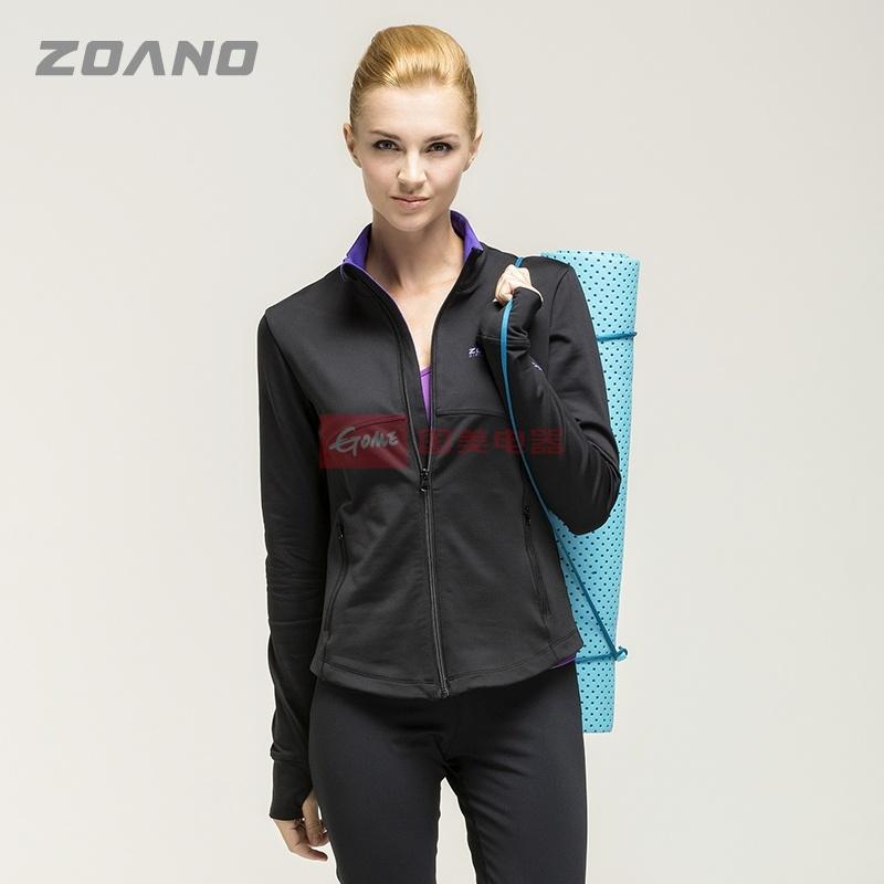 佐纳 秋冬款加厚运动夹克女外套上衣 冬季跑步健身房运动服瑜伽服