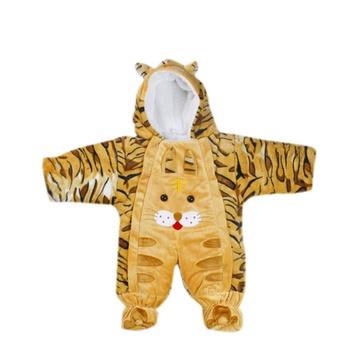萌趣 可爱动物造型棉爬服 宝宝纯棉连体衣外出服(黄色