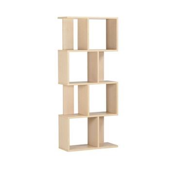新款镂空隔断四层书架展示柜