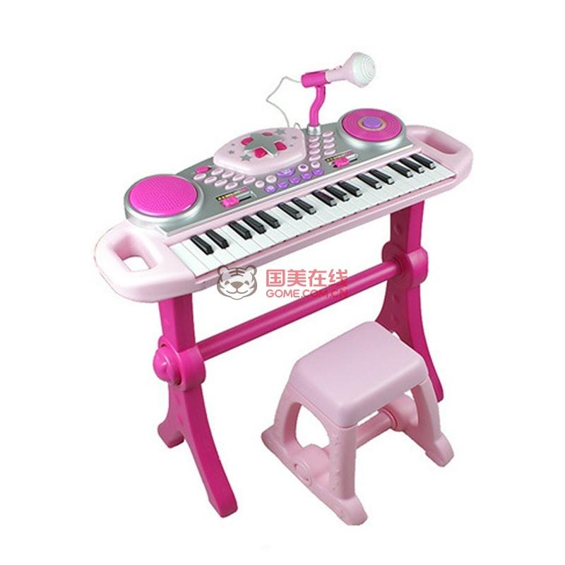 英纷幼儿童电子琴3岁小孩学习早教玩具dj音乐特效多功能正品2068(粉色