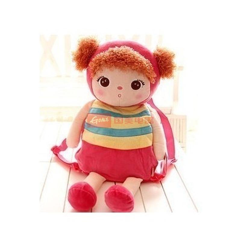 正版metoo儿童书包 可爱卡通动物安吉拉女孩毛绒 宝宝
