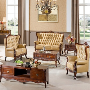 豪华欧式真皮沙发 客厅欧式真皮沙发 组合皮艺沙发(单人位)