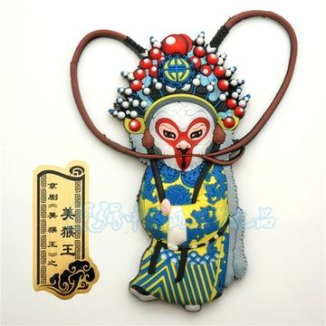 原创中国风卡通戏曲京剧人物冰箱磁性贴 家居办公装饰