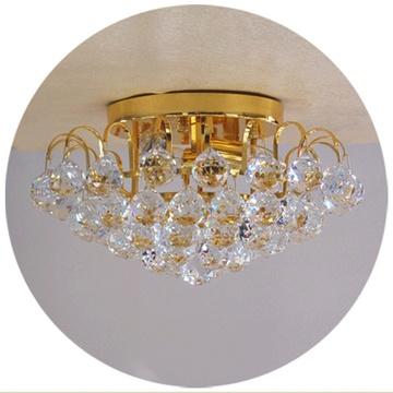 现代水晶灯圆形 欧式客厅灯吸顶灯led灯卧室灯