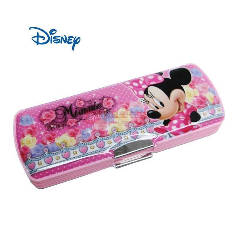 小学生 文具盒高档笔盒塑料笔盒0039(花花朵米妮)