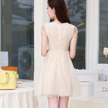 帛依恋2014夏装新款女装日韩时尚修身休闲短袖连衣裙