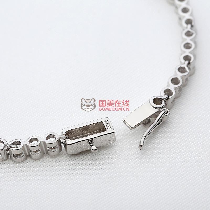 纯银手链 女韩版时尚满钻首饰品银饰闺蜜情侣送女友生日礼物满钻手链