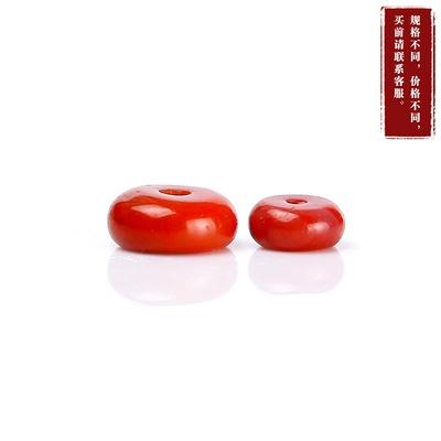 老山精品天然南红玛瑙圆桶 diy手链串珠 手工串珠(8x4mm)