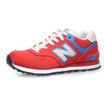女鞋 跑步鞋/Newbalance新百伦女鞋跑步鞋复古慢跑运动鞋WL574(橘红色39)
