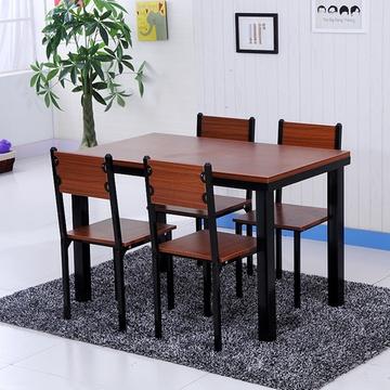 双艳琼涵*餐桌椅组合钢木结构快餐店饭店餐厅食堂