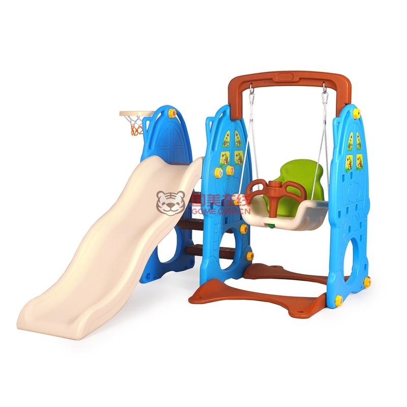 麦宝创玩 小型室内儿童多功能滑滑梯秋千玩具 宝宝滑梯秋千球池组合五
