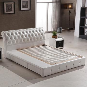欧式太子床高档三抽屉+气动高箱双人床婚床时尚