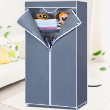 索尔诺 无纺布组合安装 简易家具布衣柜 韩式布衣橱8501(银灰色 1)