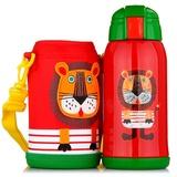 TIGER/虎牌不锈钢儿童保温杯 630ML户外旅行壶水杯子 保温保冷吸管杯MML-C06C(630ml小狮子)