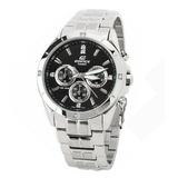 正品卡西欧手表  casio男表 Efidice系列商务休闲钢带镶钻石英男表EF-544D-1A男士品牌手表