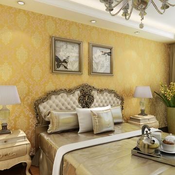 壁纸卧室客厅电视背景墙满铺墙纸gmo-d(065金黄色)