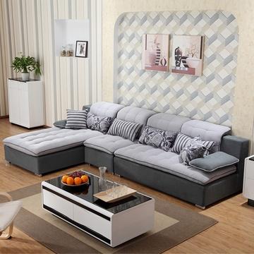 梅德比 布艺沙发 地中海风格 客厅现代时尚转角组合沙发 j21(单人位)