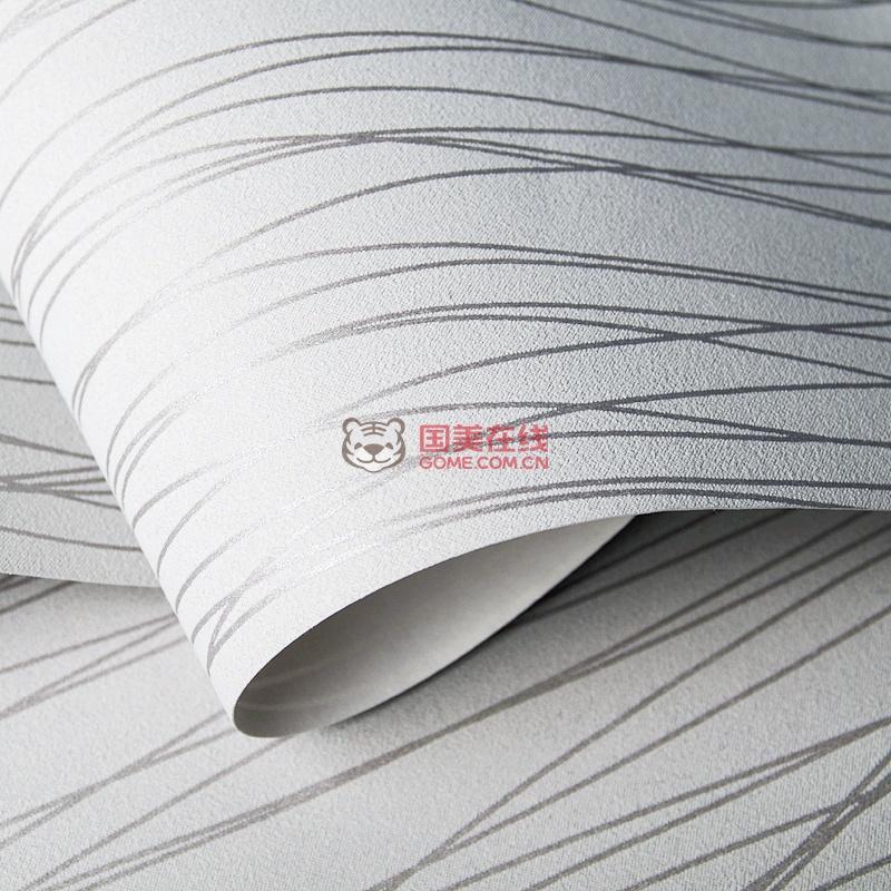 爱舍东方客厅卧室壁纸电视背景墙简约条纹加厚无纺布墙纸(as浅灰色10m