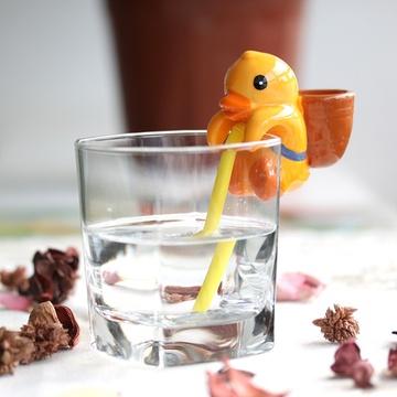 趣玩 渴渴吸里桌面迷你小植栽(小黄鸭)