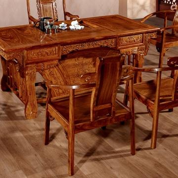 爱尚妮私 中式红木仿古家具 纯实木茶台 刺猬紫檀虎爪