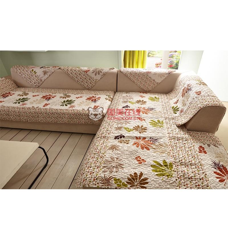 沙发垫防滑加厚布艺欧式绣花家居田园风垫子