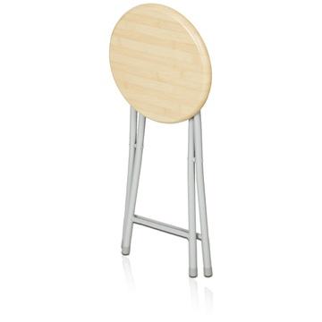 慧乐家木面钢折椅 木质折叠凳 22018