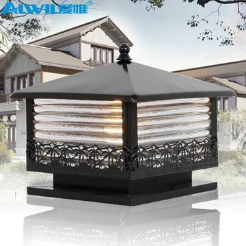 爱惟欧式户外防水景观庭院灯具室外花园围墙门柱墙头