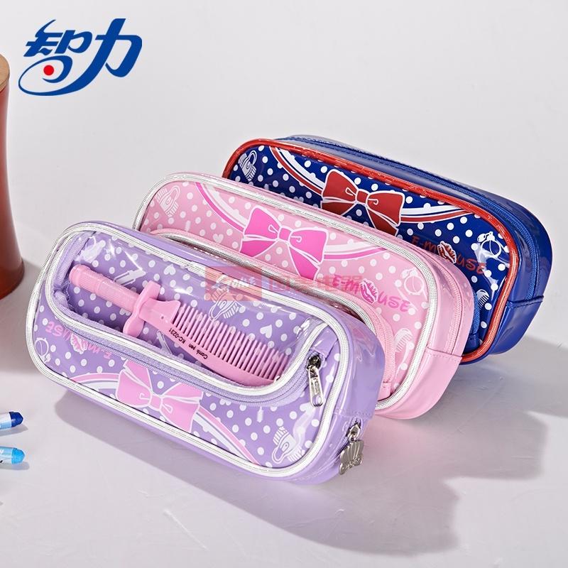 可爱笔袋化妆袋学生文具包收纳试用内配梳子铅笔多动能女孩钱包袋图片