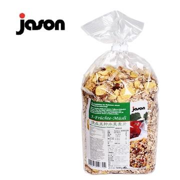 捷森 五种水果麦片 500g 德国进口 多种水果搭配 营养丰富 全家人早餐
