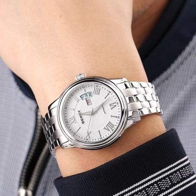 女性阴��am�b$_伯尼berny手表钢带自动机械女表男表对表情侣表腕表am
