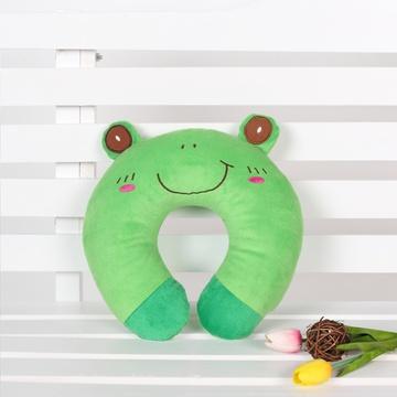 居家爱 u型枕 卡通u型枕 可爱枕 午睡枕头 汽车枕 旅行护颈枕(青蛙 28