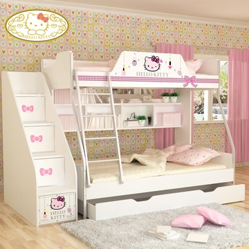 hellokitty高低床子母床上下床铺双层母子床女孩儿童