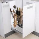 阿萨斯 不锈钢调味篮 调料线篮 厨房橱柜抽屉置物架 拉篮(300柜体-配阻尼导轨)